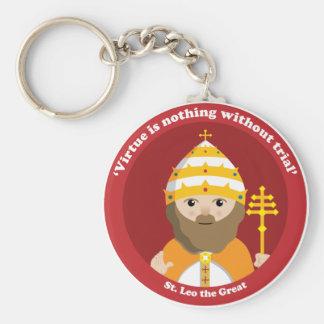 St. Leo the Great Basic Round Button Keychain