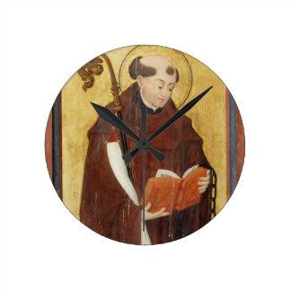 St Leonard (aceite en el panel de tierra) del oro  Reloj Redondo Mediano
