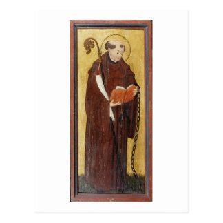 St Leonard (aceite en el panel de tierra) del oro  Postal