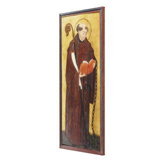St. Leonard (oil on gold ground panel) (pair of 12 Canvas Print