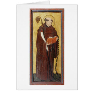 St. Leonard (oil on gold ground panel) (pair of 12 Card