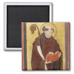 St. Leonard (oil on gold ground panel) (pair of 12 Magnets