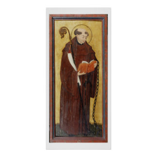 St. Leonard (oil on gold ground panel) (pair of 12 Poster