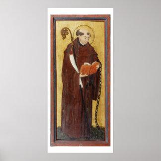 St. Leonard (oil on gold ground panel) (pair of 12 Poster