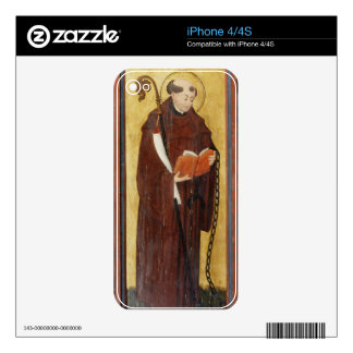 St. Leonard (oil on gold ground panel) (pair of 12 Decals For The iPhone 4S
