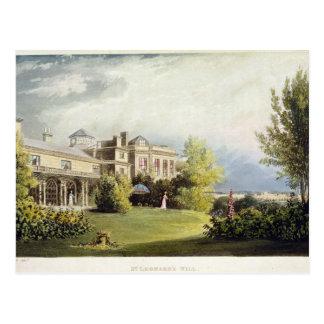 St. Leonard's Hill, from Ackermann's 'Repository o Postcard