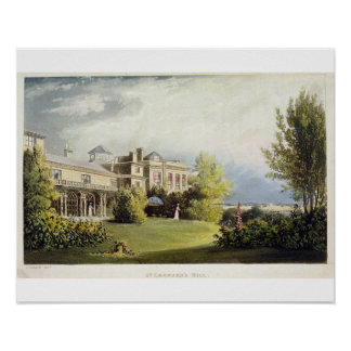 St. Leonard's Hill, from Ackermann's 'Repository o Poster