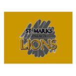 St. LEONES de la escuela de las marcas - Dallas, T Postales