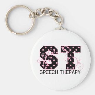 st letters black and pink polka dots key chains