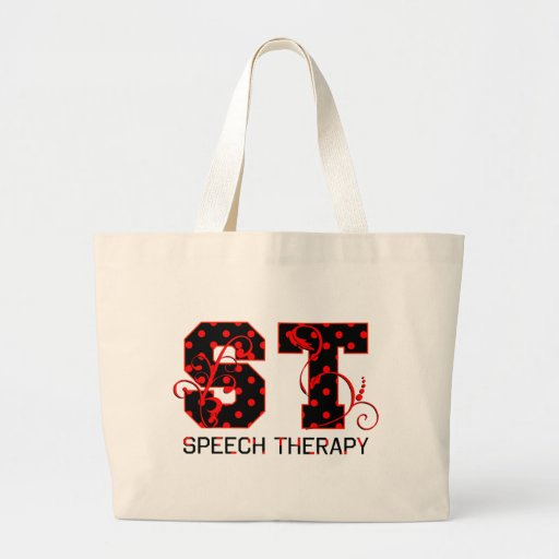 st letters black and red polka dots shadow canvas bags