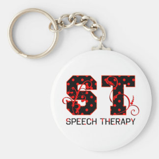 st letters black and red polka dots shadow key chains