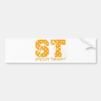 st letters orange and white polka dots bumper sticker