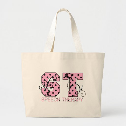 st letters pink and black polka dots bags