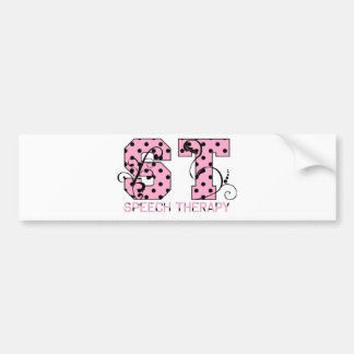 st letters pink and black polka dots car bumper sticker