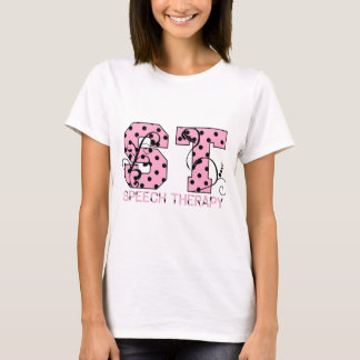 st letters pink and black polka dots T-Shirt