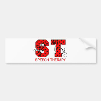 st letters red and black polka dots bumper sticker