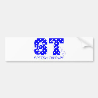 st letters white and blue polka dots bumper sticker