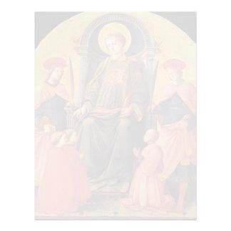 St. Lorenzo de Filippo Lippi- Enthroned con los sa Plantillas De Membrete