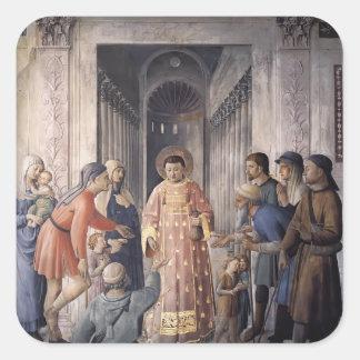 St Lorenzo del Fra Angelico- que da limosnas Etiquetas