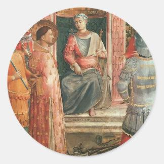 St Lorenzo en ensayo por Fra Angelico Pegatinas