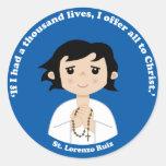St. Lorenzo Ruiz Round Stickers