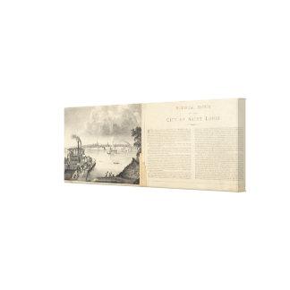 St. Louis, 1832 Canvas Print