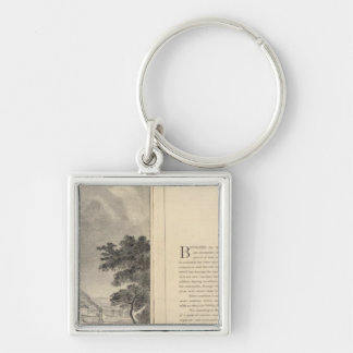 St. Louis, 1832 Silver-Colored Square Keychain