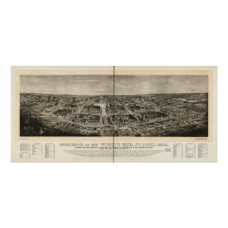 St Louis 1904 World's Fair Expo Antique Panorama Print