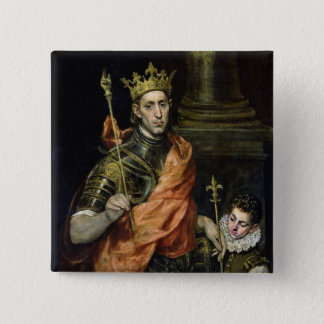St. Louis  and his Page, c.1585-90 Pinback Button
