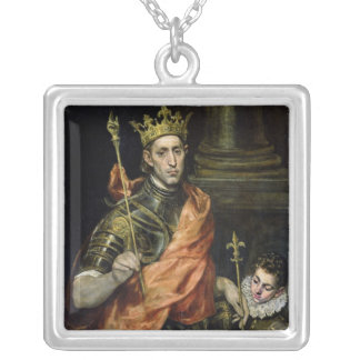 St. Louis  and his Page, c.1585-90 Silver Plated Necklace