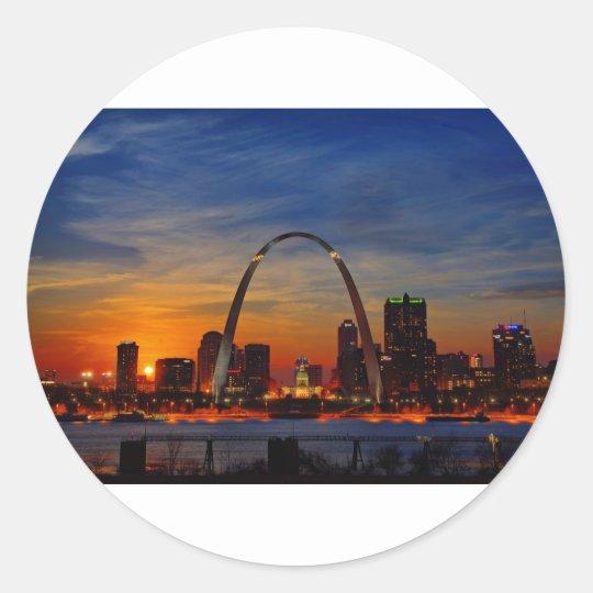 St. Louis Arch 1788 Classic Round Sticker