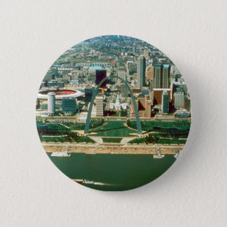 St. Louis Arch and Skyline Pinback Button