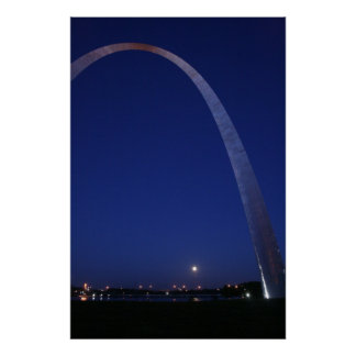 St. Louis Arch at Dusk Poster