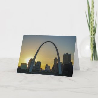 St Louis Arch at Sunset Card