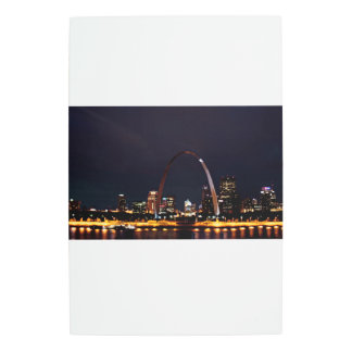 St Louis Arch by night Metal Photo Print