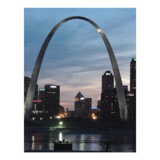 St Louis Arch Skyline Letterhead