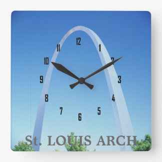 St. LOUIS ARCH Square Wall Clock