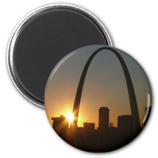 St. Louis Arch Sunset Refrigerator Magnets