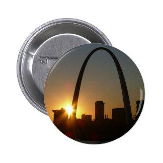 St. Louis Arch Sunset Pinback Button
