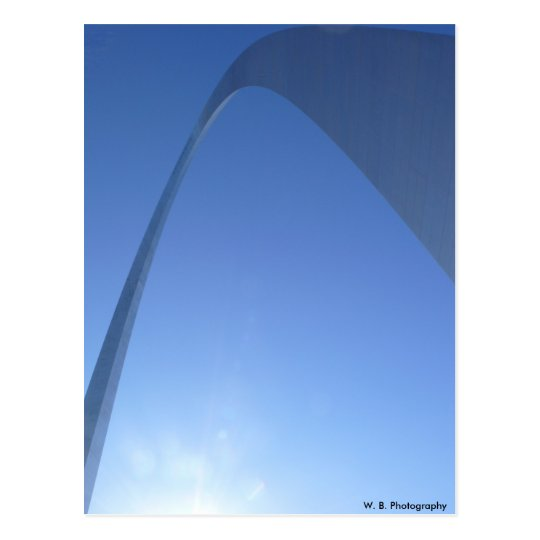 St. Louis Arch, W. B. Photography Postcard