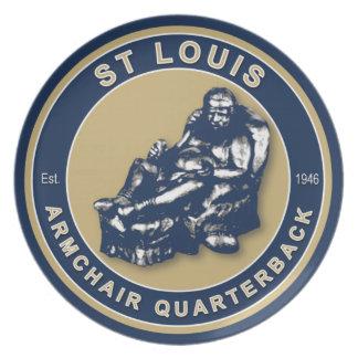 St Louis Armchair Quarterback Plate