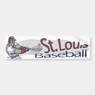 St. Louis Baseball Bumpersticker Bumper Sticker