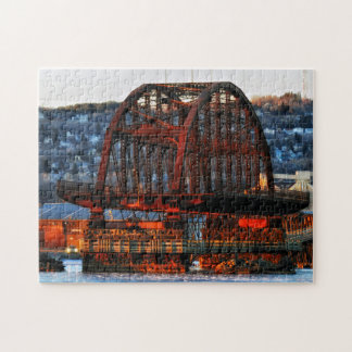 St. Louis Bay Bridge Duluth Minnesota Jigsaw Puzzle