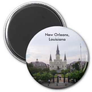 St Louis Cathedral 2 Inch Round Magnet