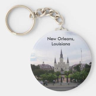 St Louis Cathedral Basic Round Button Keychain
