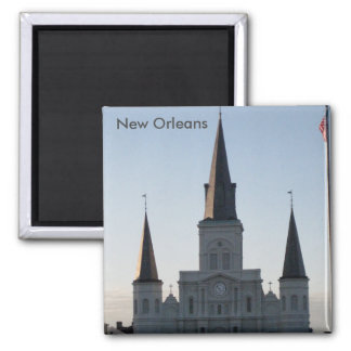 St. Louis Cathedral, French Quarter New Orleans 2 Inch Square Magnet