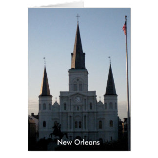 St. Louis Cathedral French Quarter New Orleans Card