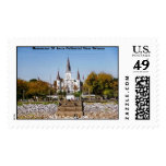 St Louis Cathedral from Moonwalk Postage