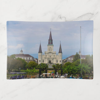 St. Louis Cathedral GLASS TRINKET TRAY