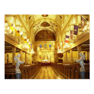 St. Louis Cathedral (interior), New Orleans, LA Postcard